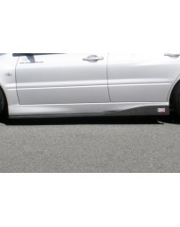 ChargeSpeed Evo VII, VIII & IX Bottom Line Side Skirts Carbon