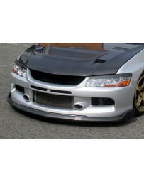 ChargeSpeed 06-07 Evo IX Bottom Line Front Lip Carbon